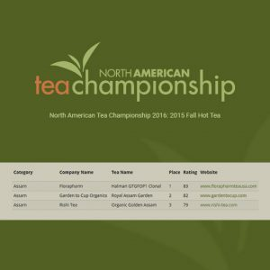 North American Tea Championship 2016: 2015 Fall Hot Tea
