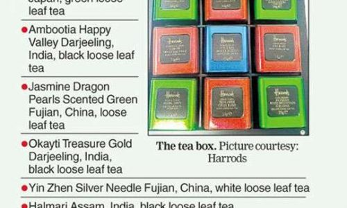 Assam tea in Harrods gift set