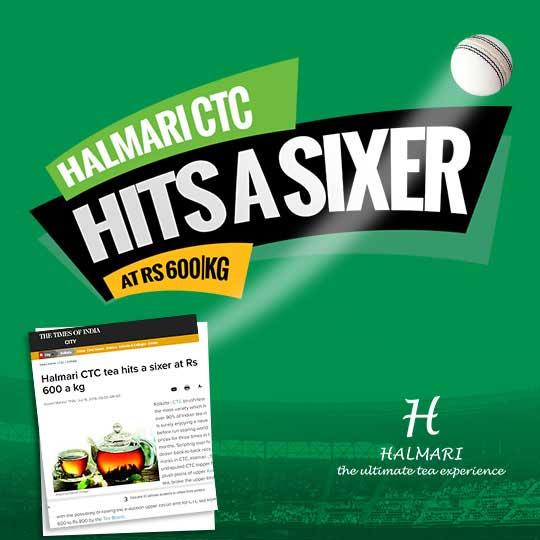 Halmari CTC tea hits a sixer