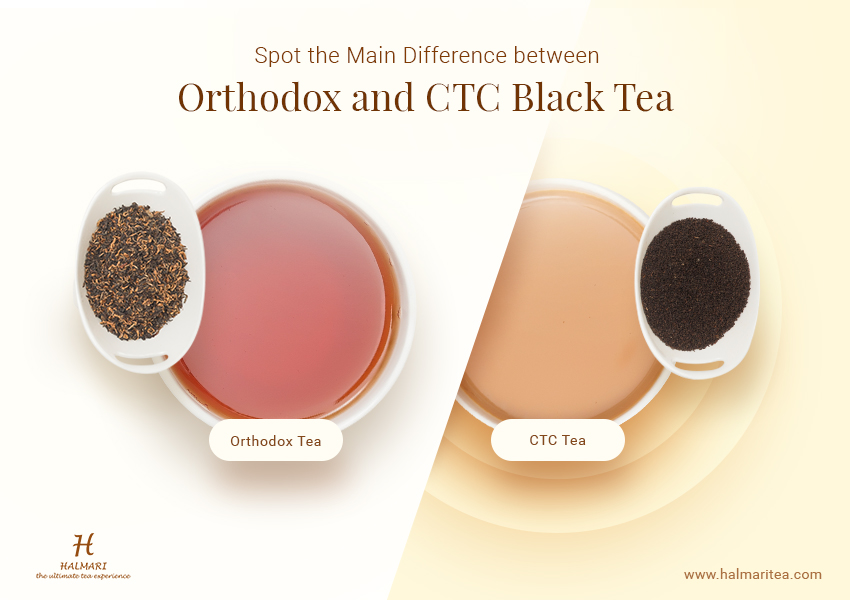 Difference between Orthodox and CTC Black Tea