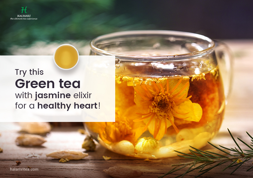 green tea with jasmine elixir for a healthy heart